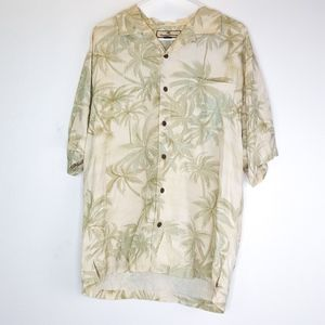 Tommy Bahama 100% Silk Button Down Graphic Top